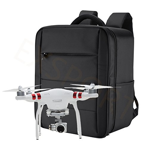 EXSPORT-Upgraded-Waterproof-Carrying-Bag-Cases-Traveling-Backpack-for-DJI-3-Professional-Advanced-Standard-4K-Quadcopter-Drone-and-Accessories-Carry-Bag-ONLY-No-Insert-Foam