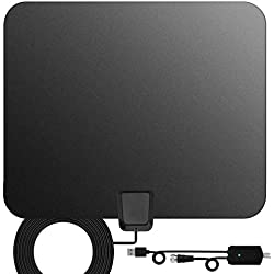 TV Antenna,[Best Indoor Antenna] Indoor Digital HDTV Amplified Television Antenna Freeview 4K 1080P HD VHF UHF for Local Channels 130 Miles with Signal Amplifier Support All Television-13ft Coax Cable
