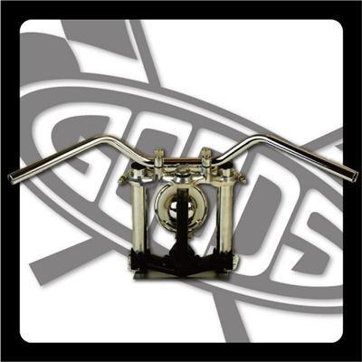 GOODS : 250TR※('07~)FI車 クローズバーハンドル(クローム)  ロングワイヤー、ブレーキホースセット   B00IVFG7LW