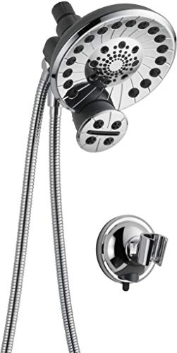 Peerless Sidekick Touch-Clean Shower Head with Hand Held Shower Wand with Hose, Chrome 76465