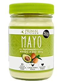 Primal Kitchen - Avocado Oil Mayo, First Ever Avocado Oil-Based Mayonnaise, Paleo Approved and Organic, (12 Ounce, 1 Jar)