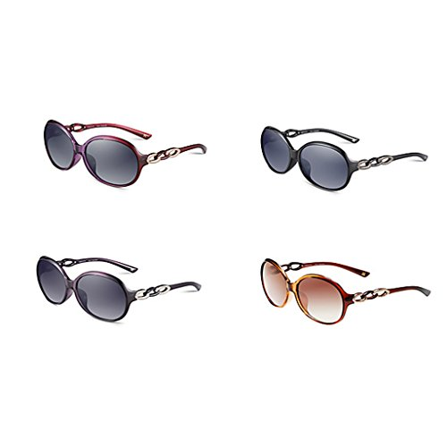 ronde soleil Black cadre Dame de de lunettes face Purple grand w8nWIqtAO