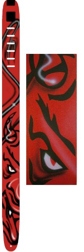Perri's Leathers 2.5 Inch Devil Leather Guitar Strap with Airbrushed Satan Demon