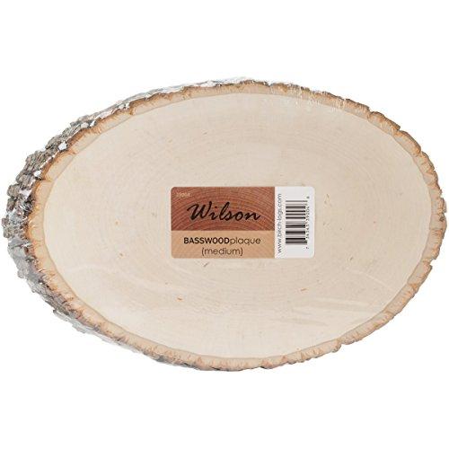 Basswood Plaque (Round/Oval) Bulk Quantity Value Box (Medium (7-9 inch Diameter) Pack of 10)