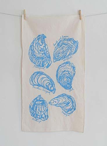 Amazon.com: Oyster Tea Towel in Sky Blue - Flour Sack