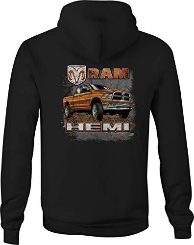 Dodge Ram Flag - Dodge Zip Up Hoodie Guts Glory Ram Hooded Sweatshirt for Men - 4XL Black
