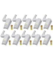 10 Stuks LED Scharnier Licht Universele Home Keuken Kantoor Deurlicht Hotel Garderobe Kast Automatische Schakelaar Koel Wit Verlichting Lamp Kast Nachtlampje (Inclusief batterijen, 10 PCS)