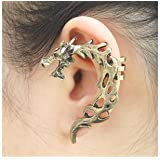 Tanboo K3444 Punk Style Vintage Hanging Shaped Dragon Earrings Fashion Earrings Jewelry,with Tanboo Card and Gift Box