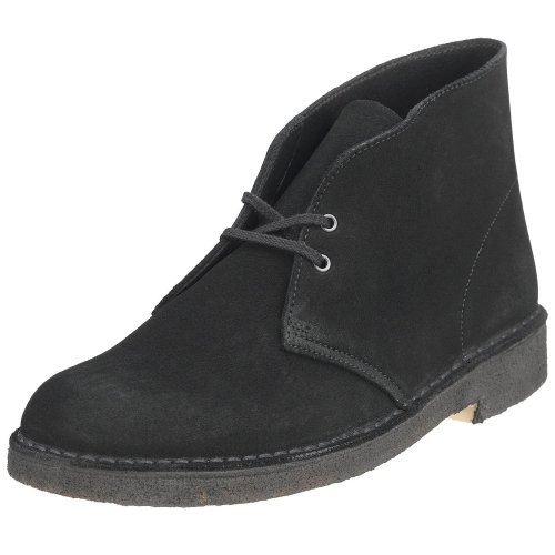 Clarks Originals Men's Desert Boot, Black Suede, 10 M
