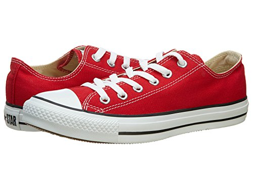 Converse Unisex Chuck Taylor All Star Low Top Red Sneakers - 4 D(M) US -