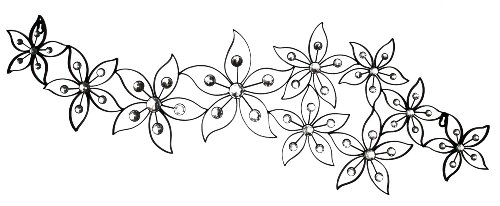 Home Source 400-22330 Decorative Metal Wall Art, 41.3-Inch by 12.8-Inch by 0.79-Inch (Silver Scroll International Modern)