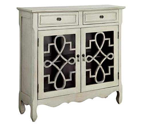 E Gadget Group Haskell Vintage Style Cabinet Antique Light Grey - Homes: Inside + Out ()