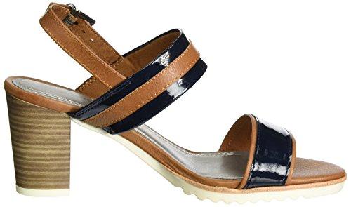 Marco Tozzi 2-2-28704-28 519, Sandalias de Tacón Mujer Azul (Navy Comb 890)