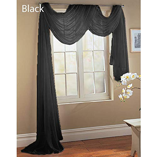 Sheer Dreams Fully Stitched Window Curtain Drapery Sheer Panel (55