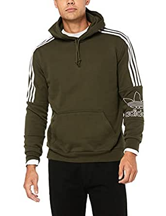 adidas Men's DH5780 Outline Hoodie, Night Cargo, S