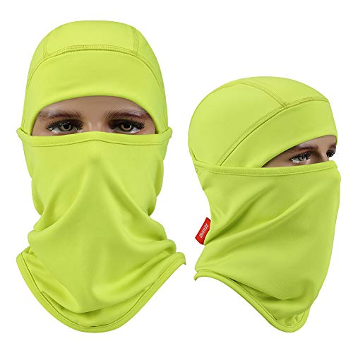 Aegend Balaclava Windproof Ski Mask for Cold Weather, Motorcycle Neck Warmer Tactical Balaclava Polyester Fleece Hood for Women Men Youth kids, Snowboard Cycling Hat Helmet Liner Mask, Shiny Green