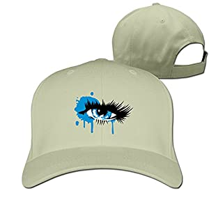 A Colored Eye With Long Eyelashes Cotton Sun Hat Peaked Cap