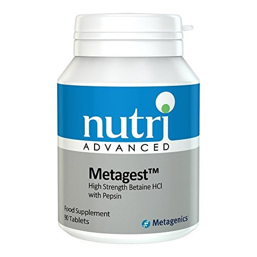 Metagest - 90 Tablets by Nutri Advanced - High Strength Betaine HCI with Pepsin by Nutri Advanced ()