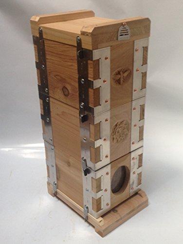 Eco Bee Box Mini Bee Hive (3-Box Hive Stack, Aluminum Bra...
