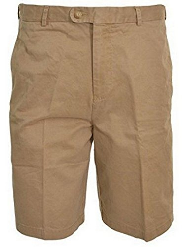 - KIRKLAND SIGNATURE MEN'S PIMA COTTON WASHED TWILL SHORTS 34 KHAKI TAN