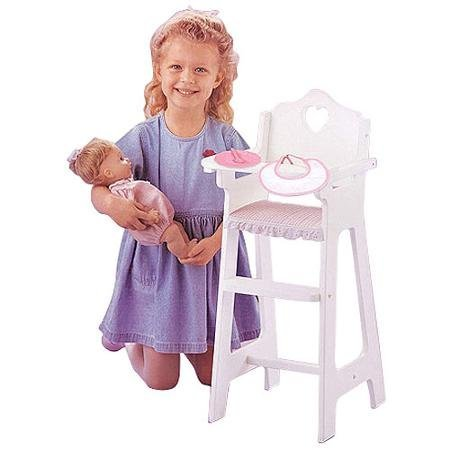 Badger Basket Doll High Chair With Feeding Accessories - Fits Most 18