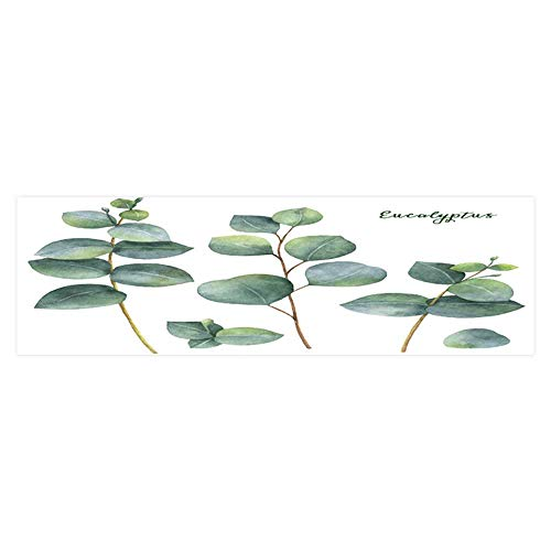 (Dragonhome Fish Tank Poster Aquarium Background Backdrop PVC Adhesive Painted Set with Silver Dollar Eucalyptus Leaves and Branches Sticker Wallpaper Fish Tank L23.6 x)