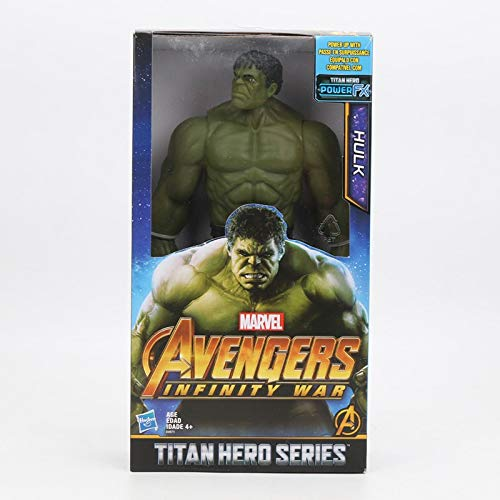 ALANAST Marvel Action Figure 12 inch Avengers 3 Infinity War Marvel Legends Spiderman Black Panther Iron Man Captain America Thanos Hulk PVC with OPP Bag/with Box