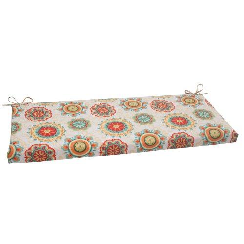 Pillow Perfect Indoor/Outdoor Fairington Bench Cushion, Aqua
