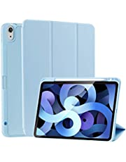 """SIWENGDE Case for iPad Air 4 Case 2020, 10.9"""" New iPad Air (4rd Gen) 2020, Rebound Slim Smart Case with Built-in Pencil Holder, Strong Magnetic Trifold Stand and Auto Sleep/Wake Fit 2020 iPad 10.9 Inch [Support Apple Pencil Pair & Charging] (LightBlue)"""