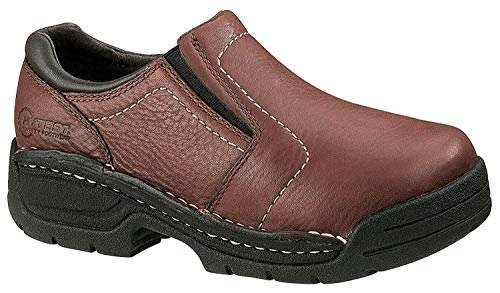 Hytest Opanka Men's Slip On Shoes Brown Steel Toe, Electrical Hazard Protection (13 ()
