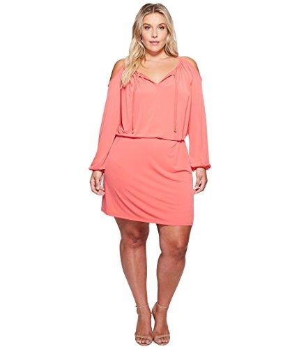 底引き出し柔らかさ[マイケル マイケルコース] MICHAEL Michael Kors レディース Plus Size MJ Cold Shoulder Dress ドレス [並行輸入品]