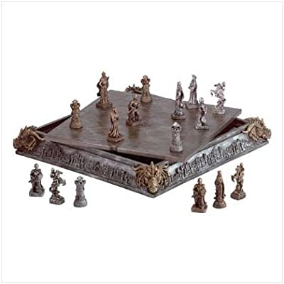 Medieval Knight Chess Set, Chess Sets for Adults, Decorative Board Set, for Christmas