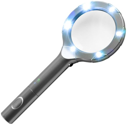Illumine Hand-held 6 LED High Powered Magnifying Glass