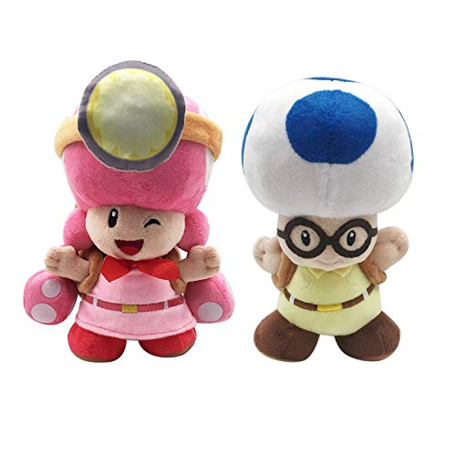 Super Mario Bros Toadette Blue Toad with Backpackfor