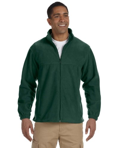 Men's Full-Zip Fleece - HUNTER - 2XL