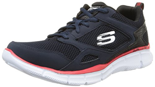 Skechers Equalizer- Game Point, Sneakers da Uomo Grigio (Gylb)