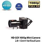 SDI CAMERA, HD-SDI 2.1MP 1080P CCTV Security Mini Camera, 3 Megapixel Grade 2.8~12mm Varifocal HD Lens, True DAY/NIGHT (ICR Filter), OSD Control