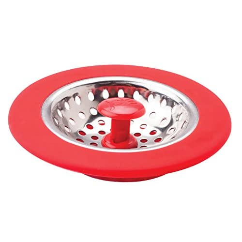 best Joie Kitchen Sink Stopper and Strainer Basket  Stainless Steel and  Plastic  Red. best Joie Kitchen Sink Stopper and Strainer Basket  Stainless