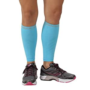 Zensah Compression Leg Sleeves, Aqua, X-Small/Small