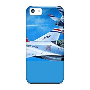 Durable Plane, F-16, Sky, In-flight Back Cases/covers For Iphone 5c