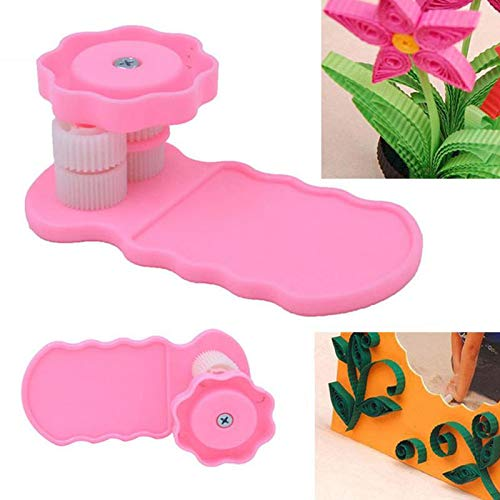 Professional Pink Plastic Paper Quilling Crimper Machine Crimping Craft Quilled DIY, Paper Craft Machines - Paper Curling, Roll Crimping, in Paper Crafts, Rolling Crimper, Wreath Crimper by Buy Now !!!
