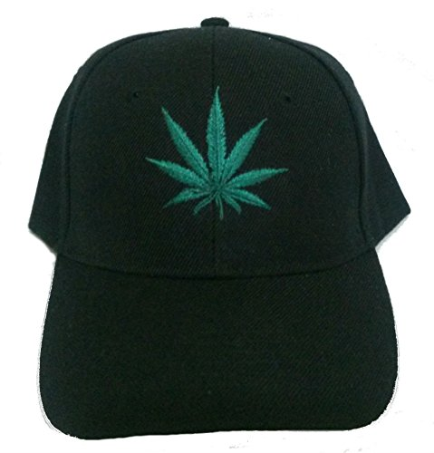 Weed-Marijuana-Leaf-Embroidered-Baseball-Hat-Adjustable-Velcro