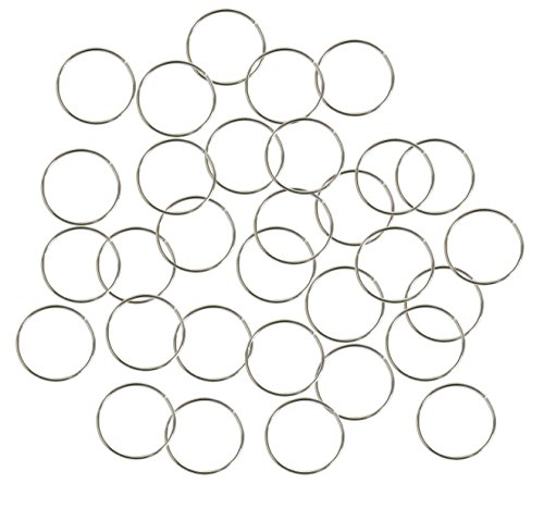 Rockin Beads Brand, 400 Jump Rings, Silver-plated Brass, 12mm Round, 21 Gauge. Open 10.6mm Inside Jewelry Connectors Chain Links Sold Per Pkg of 400