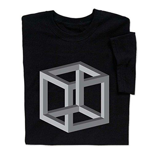 ComputerGear Optical Illusion T Shirt MC Escher Impossible Box Cube, L