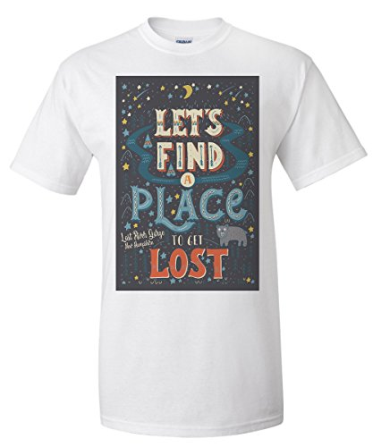 Lost River Gorge and Boulder Caves, New Hampshire - Lets Find a Place to Get Lost (White T-Shirt Small) Boulder Small Wall Lantern
