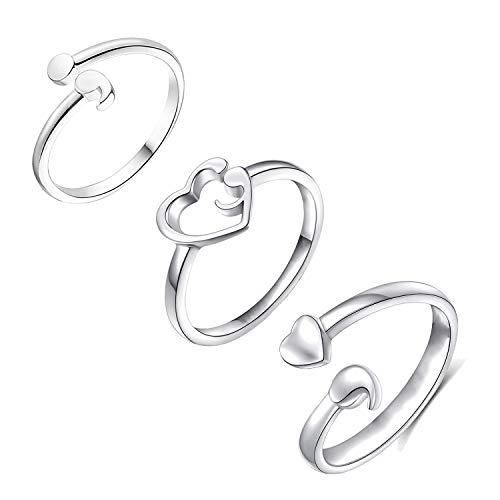 Women's Semicolon Open Ring Inspirational Motivational Ring Adjustable Size 6-9