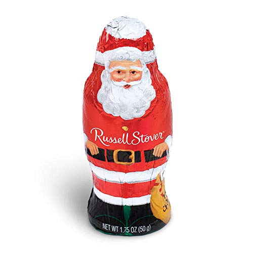 Russell Stover Hollow Milk Chocolate Santa, 1.75 Ounce, 16 Count
