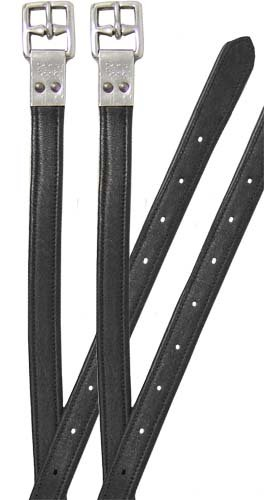 Paris Tack Triple Layer English Stirrup Leathers with Riveted Buckles- 60