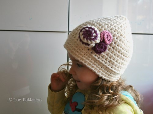 Crochet Book Vintage Beginner Crochet Baby Hat Pattern With Flower