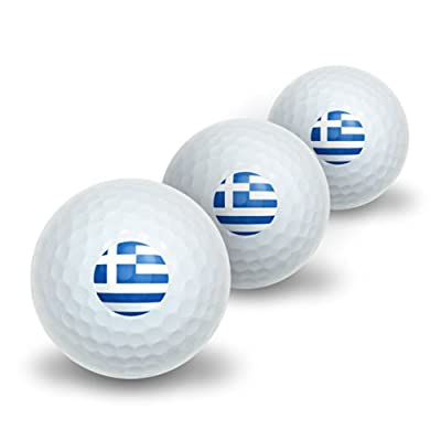 Greece Greek Flag Novelty Golf Balls 3 Pack